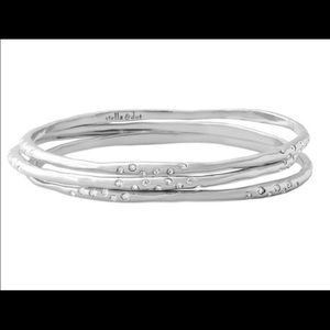 :: Stella & Dot Silver Rhea Bracelet Set of 3